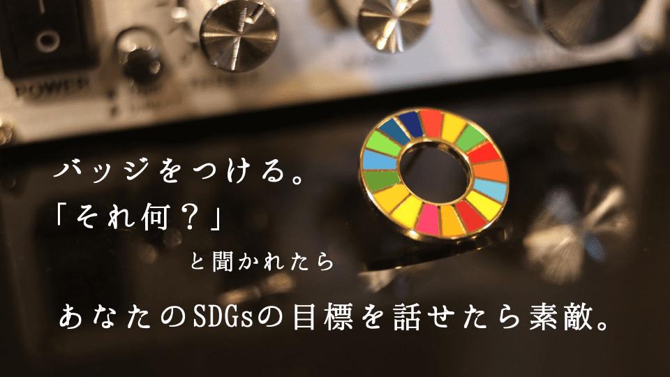 SDGs バッジの意味